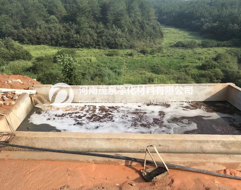 广东惠州矿山污水处理现场